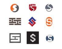 Λογότυπο εικονιδίων του S Στοκ εικόνες με δικαίωμα ελεύθερης χρήσης