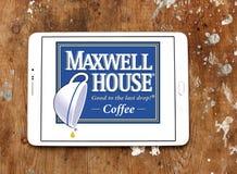 Λογότυπο εμπορικών σημάτων καφέ σπιτιών του Maxwell Στοκ εικόνα με δικαίωμα ελεύθερης χρήσης