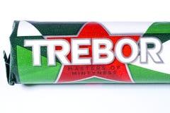 Λογότυπο εμπορικών σημάτων Trebor Στοκ φωτογραφίες με δικαίωμα ελεύθερης χρήσης