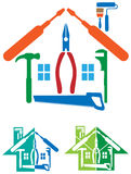 Λογότυπο επισκευής σπιτιών διανυσματική απεικόνιση