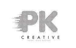 Λογότυπο επιστολών του PK Π Κ με τα μαύρα σημεία και τα ίχνη Στοκ φωτογραφία με δικαίωμα ελεύθερης χρήσης