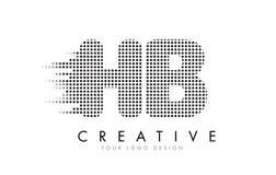 Λογότυπο επιστολών HB Χ Β με τα μαύρα σημεία και τα ίχνη Στοκ φωτογραφίες με δικαίωμα ελεύθερης χρήσης