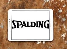Λογότυπο επιχείρησης αθλητικού εξοπλισμού Spalding Στοκ φωτογραφία με δικαίωμα ελεύθερης χρήσης