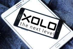 Λογότυπο επιχείρησης ηλεκτρονικής XOLO Στοκ εικόνα με δικαίωμα ελεύθερης χρήσης