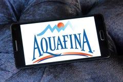 Λογότυπο επιχείρησης μεταλλικού νερού Aquafina Στοκ φωτογραφία με δικαίωμα ελεύθερης χρήσης