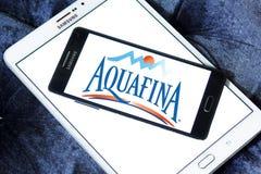 Λογότυπο επιχείρησης μεταλλικού νερού Aquafina Στοκ Φωτογραφίες