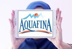Λογότυπο επιχείρησης μεταλλικού νερού Aquafina Στοκ φωτογραφίες με δικαίωμα ελεύθερης χρήσης