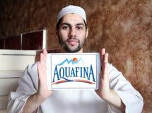 Λογότυπο επιχείρησης μεταλλικού νερού Aquafina Στοκ εικόνες με δικαίωμα ελεύθερης χρήσης