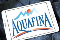 Λογότυπο επιχείρησης μεταλλικού νερού Aquafina Στοκ Εικόνες