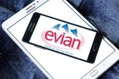 Λογότυπο επιχείρησης μεταλλικού νερού Evian Στοκ εικόνες με δικαίωμα ελεύθερης χρήσης