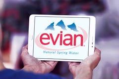 Λογότυπο επιχείρησης μεταλλικού νερού Evian Στοκ Εικόνα