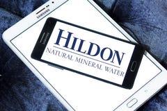 Λογότυπο επιχείρησης μεταλλικού νερού Hildon Στοκ φωτογραφίες με δικαίωμα ελεύθερης χρήσης
