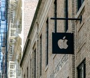 Λογότυπο επιχείρησης της Apple Στοκ εικόνα με δικαίωμα ελεύθερης χρήσης