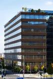 Λογότυπο επιχείρησης της Microsoft στην οικοδόμηση έδρας Στοκ εικόνες με δικαίωμα ελεύθερης χρήσης
