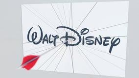 Λογότυπο επιχείρησης WALT DISNEY που ραγίζεται από το βέλος τοξοβολίας Εταιρική εννοιολογική εκδοτική τρισδιάστατη απόδοση προβλη διανυσματική απεικόνιση
