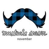 Λογότυπο εποχής Mustache Στοκ φωτογραφία με δικαίωμα ελεύθερης χρήσης