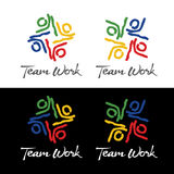 Λογότυπο εργασίας ομάδας σκίτσων απεικόνιση αποθεμάτων