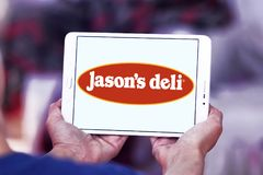 Λογότυπο εστιατορίων γρήγορου φαγητού του Jason ` s Deli Στοκ φωτογραφία με δικαίωμα ελεύθερης χρήσης