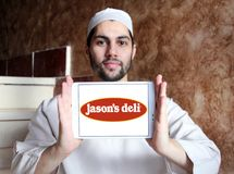 Λογότυπο εστιατορίων γρήγορου φαγητού του Jason ` s Deli Στοκ Φωτογραφία