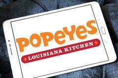 Λογότυπο εστιατορίων γρήγορου φαγητού Popeyes Στοκ φωτογραφία με δικαίωμα ελεύθερης χρήσης