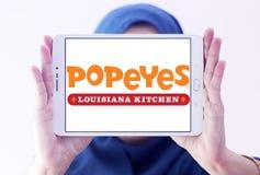 Λογότυπο εστιατορίων γρήγορου φαγητού Popeyes Στοκ Εικόνες