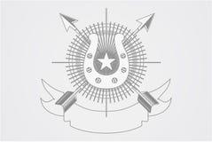 Λογότυπο λεσχών αλόγων διανυσματική απεικόνιση