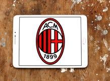 Λογότυπο λεσχών ποδοσφαίρου εναλλασσόμενου ρεύματος Μιλάνο Στοκ φωτογραφία με δικαίωμα ελεύθερης χρήσης