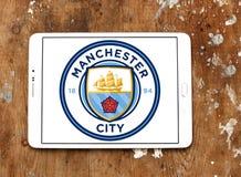 Λογότυπο λεσχών ποδοσφαίρου πόλεων του Μάντσεστερ Στοκ εικόνα με δικαίωμα ελεύθερης χρήσης