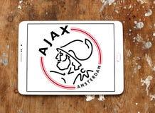 Λογότυπο λεσχών ποδοσφαίρου του Άμστερνταμ Ajax Στοκ Εικόνες