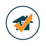 Λογότυπο ελέγχου σπιτιών στοκ εικόνες