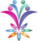 Λογότυπο ζευγών λουλουδιών Στοκ Εικόνες