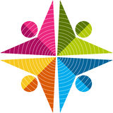 λογότυπο ζευγών Στοκ εικόνες με δικαίωμα ελεύθερης χρήσης