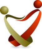 Λογότυπο ζεύγους Στοκ εικόνα με δικαίωμα ελεύθερης χρήσης