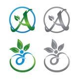 Λογότυπο ζωής φύσης για την έννοια εικονιδίων επιχείρησης υγείας Στοκ Εικόνες