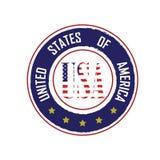 Λογότυπο ΗΠΑ Στοκ εικόνες με δικαίωμα ελεύθερης χρήσης