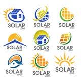 Λογότυπο ηλιακής ενέργειας Στοκ εικόνες με δικαίωμα ελεύθερης χρήσης