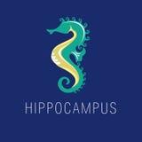 Λογότυπο θάλασσας, άλογο θάλασσας απεικόνιση αποθεμάτων