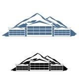 Λογότυπο θερέτρου βουνών Στοκ φωτογραφίες με δικαίωμα ελεύθερης χρήσης