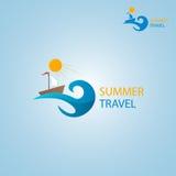 Λογότυπο θερινού ταξιδιού Στοκ Φωτογραφίες