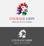 Λογότυπο λιονταριών θάρρους Στοκ Εικόνες