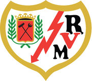 Λογότυπο Ισπανία Vallecano Rayo Στοκ Φωτογραφία