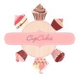 Λογότυπο κέικ. Διάνυσμα διανυσματική απεικόνιση