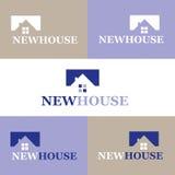 Λογότυπο καινούργιων σπιτιών, διανυσματική απεικόνιση Στοκ Εικόνες