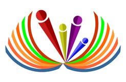 Λογότυπο και βαθμολόγηση ανθρώπων ελεύθερη απεικόνιση δικαιώματος
