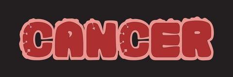 λογότυπο καρκίνου διανυσματική απεικόνιση