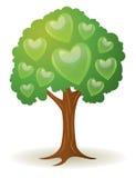 Λογότυπο καρδιών δέντρων διανυσματική απεικόνιση