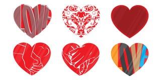 Λογότυπο καρδιών αγάπης, διάνυσμα ελεύθερη απεικόνιση δικαιώματος