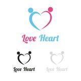 Λογότυπο καρδιών αγάπης Στοκ φωτογραφία με δικαίωμα ελεύθερης χρήσης
