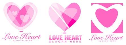 Λογότυπο καρδιών Στοκ Φωτογραφία
