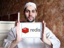 Λογότυπο καταστημάτων δομών δεδομένων Redis Στοκ Εικόνες
